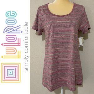 LuLaRoe Stripes Classic T Shirt Sz M